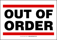 Signtrade Download FREE Business And Office Signs - Out of order sign pdf