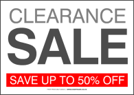 picture about Free Printable Sale Signs for Retail referred to as clearance sale signs or symptoms printable -